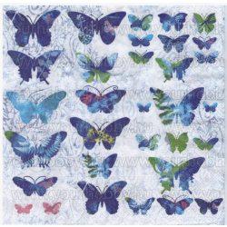 Szalvéta Kék lepkék