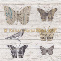 Szalvéta Papírlepkék