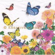 Szalvéta Pillangók virágos mezőn