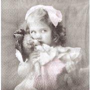 Szalvéta, Karácsonyi, Nosztalgia kislány babával