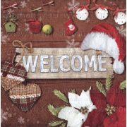 Szalvéta, Karácsonyi, Isten hozott