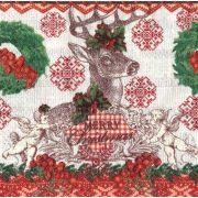 Szalvéta, Karácsonyi, Szarvas piros zöldben