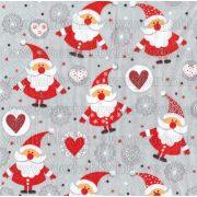 Szalvéta, Karácsonyi, Apró mikulások szívekkel