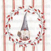 Szalvéta, Karácsonyi, Csipkebogyó manó