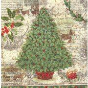 Szalvéta, Karácsonyi, Magyal fenyőfa