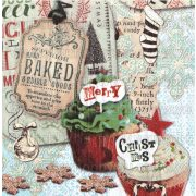 Szalvéta, Karácsonyi, Karácsonyi muffinok
