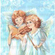 Szalvéta, Karácsonyi, Zenélő angyalkák