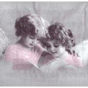 Szalvéta, Karácsonyi, Nosztalgia két kislány