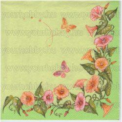 Szalvéta Tölcséres virágok lepkékkel