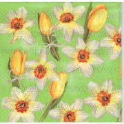 Szalvéta Sárga tulipánok és nárciszok