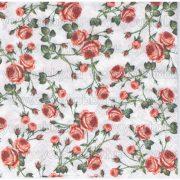 Szalvéta Rózsás mintázat