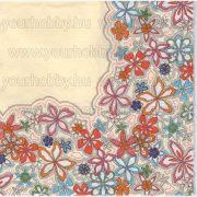 Szalvéta Csipkevirágok