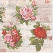 Szalvéta Angol rózsák
