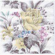 Szalvéta Halványsárga virágok