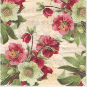 Szalvéta Piros-sárga pünkösdi rózsák