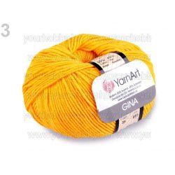 Kötőfonal Gina 50g / Jeans 50g sárga