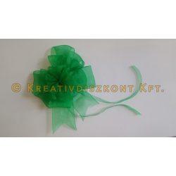 Zöld organza masni