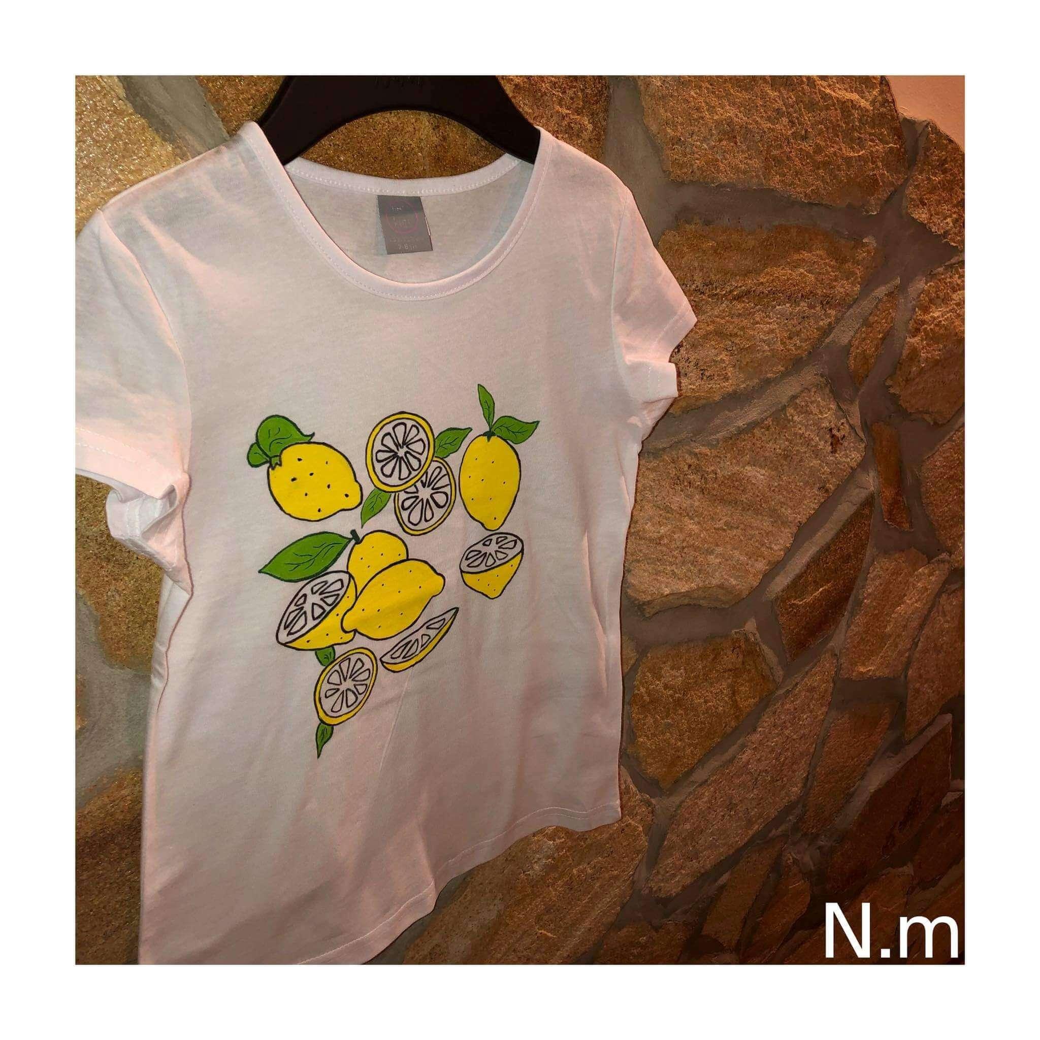 textilfestés citromok színes