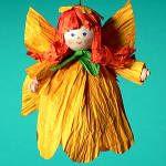Papírszalag figura Virágtündér