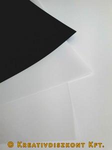 Zsugorka fólia előrecsiszolt 20x30 cm/ív opál
