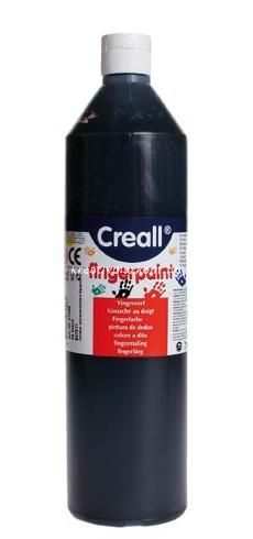 Ujjfesték 6 szín 750 ml - fekete